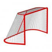 Сетка хоккей яч. 40*40 (1,25*1,85*1,30 м) d=4,0 мм, цвет белый ПА